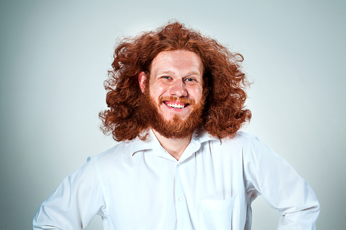 Happy Red-headed Man