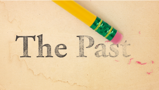 "Pencil Erasing the words ""The Past"""